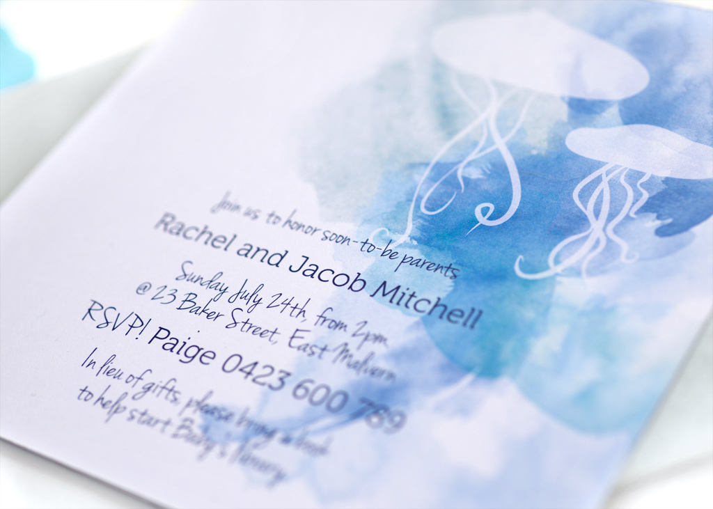 Watercolour Baby Shower Invitation 4/4