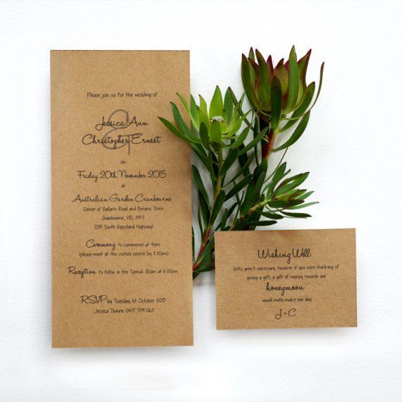 Rustic Wedding Invitation. 1/4