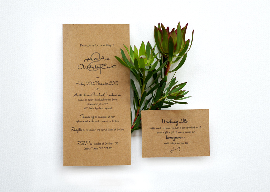 Rustic Wedding Invitation. 1/4