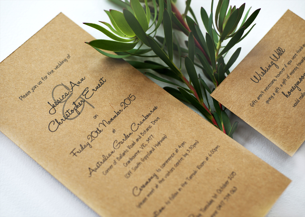 Rustic Wedding Invitation. 4/4