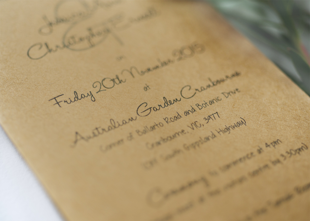 Rustic Wedding Invitation. 3/4