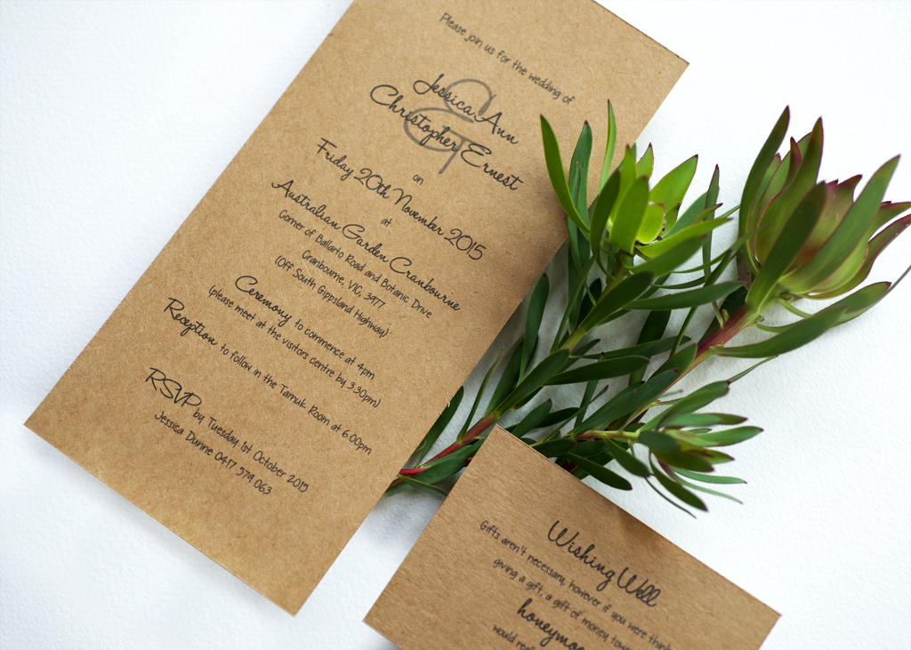 Rustic Wedding Invitation. 2/4
