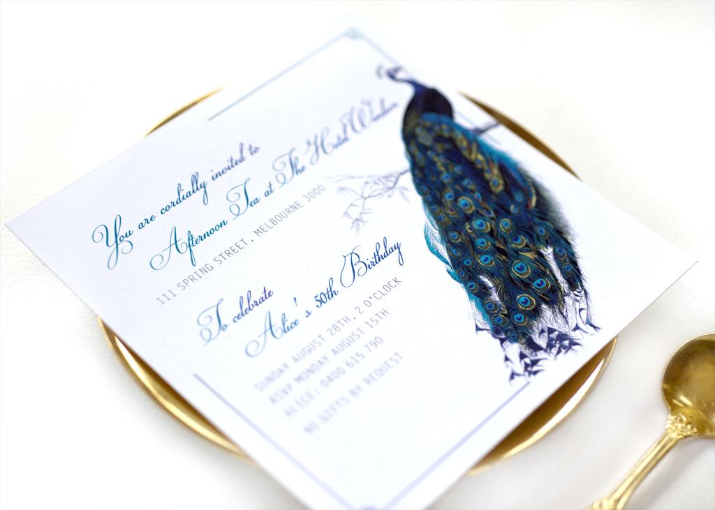 Peacock 50th Invitation 4/4