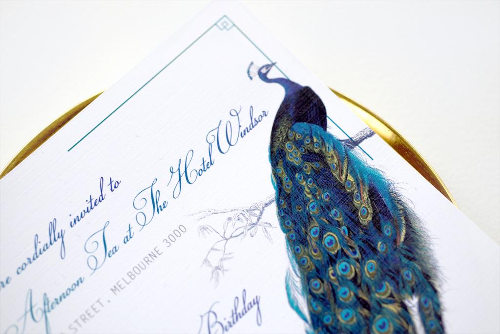 Peacock 50th Invitation 3/4
