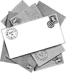 Vintage envelopes pile